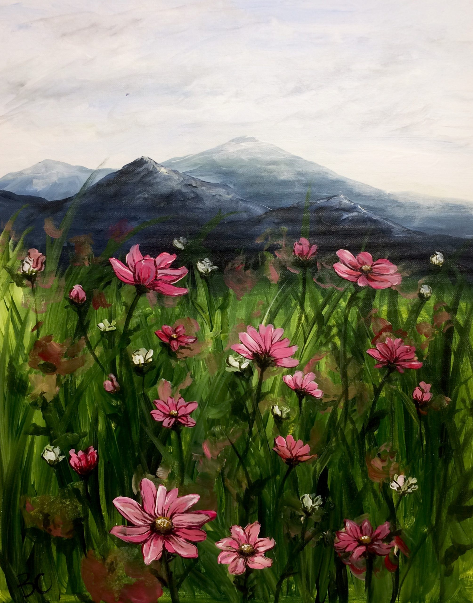 Mountainside Wild Flowers Painting Class Uncorked Creations Binghamton