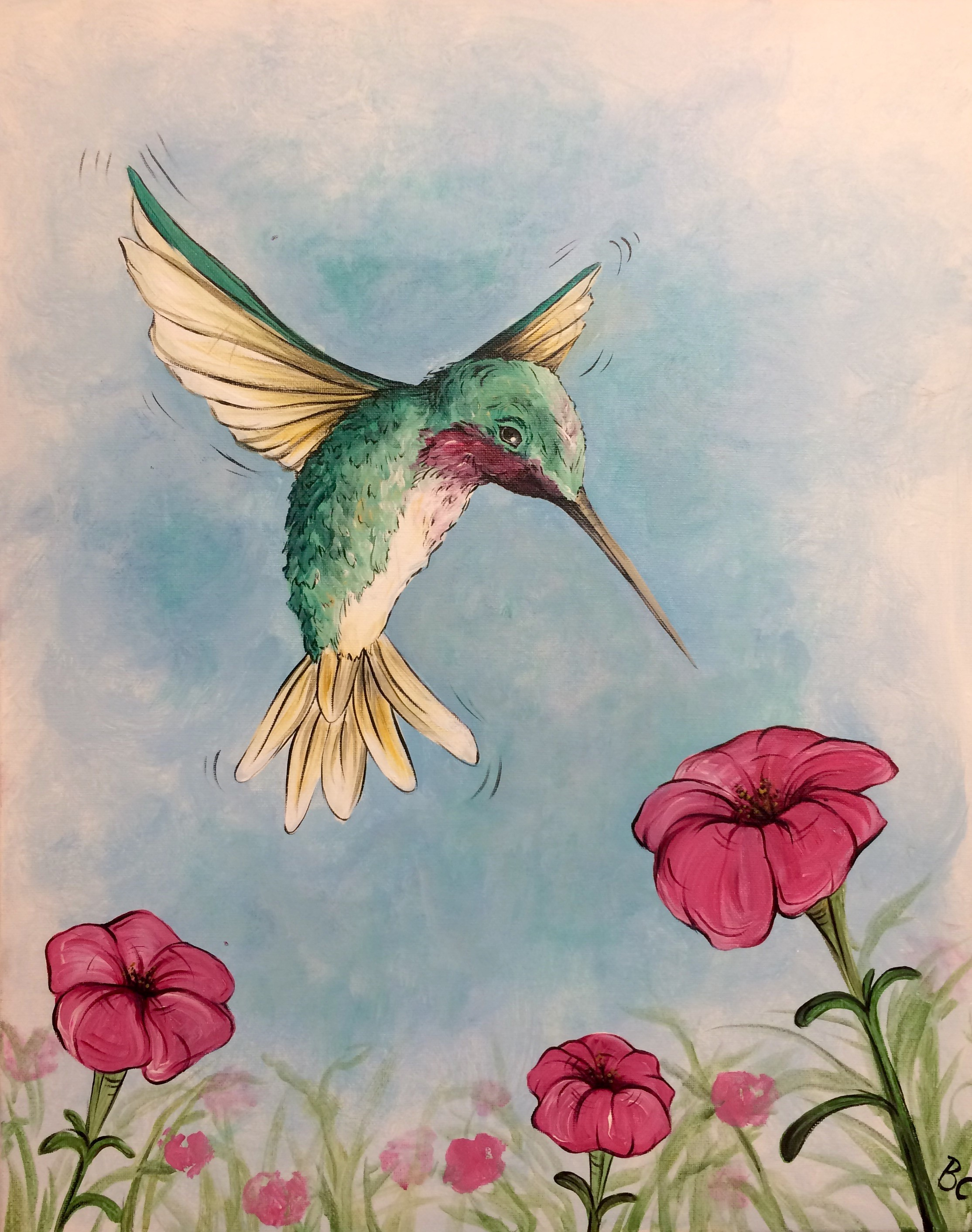 Hovering Hummingbird Painting *Class Full* - Uncorked Creations | Binghamton