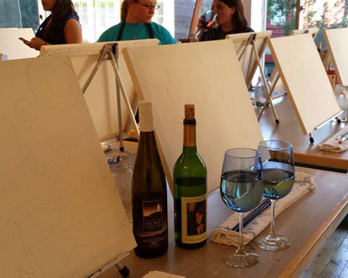 Wine night at Uncorked Creations